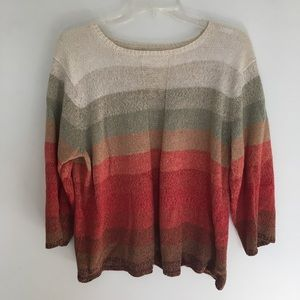 Ombré sweater in pretty fall shades